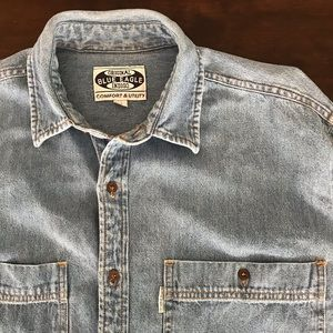 Vintage light wash jeans shirt